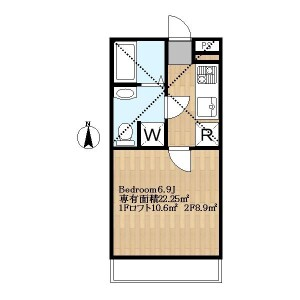 1K Apartment in Sakaecho - Fuchu-shi Floorplan