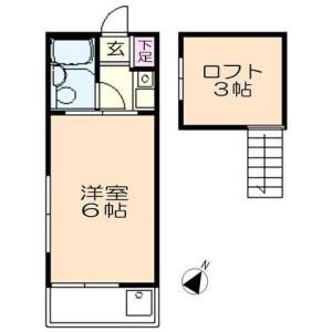 1K Apartment in Hommachinishi - Saitama-shi Chuo-ku Floorplan