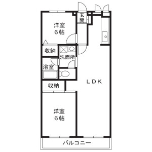 2LDK Mansion in Kodai - Kawasaki-shi Miyamae-ku Floorplan