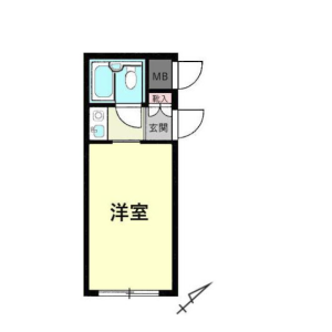 1R {building type} in Kamimaruko hachimancho - Kawasaki-shi Nakahara-ku Floorplan
