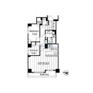 2LDK {building type} in Nishiazabu - Minato-ku Floorplan