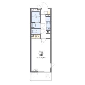 埼玉市浦和區北浦和-1K公寓大廈 房間格局