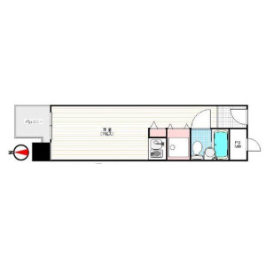 1R Apartment in Nishishinsaibashi - Osaka-shi Chuo-ku Floorplan