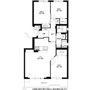 3LDK {building type} in Nishiharacho - Nishitokyo-shi Floorplan