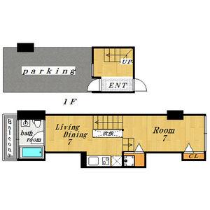 1DK Mansion in Benten - Osaka-shi Minato-ku Floorplan