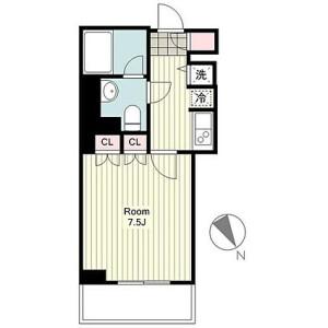 1K Mansion in Nihonodori - Yokohama-shi Naka-ku Floorplan