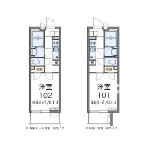 1K Apartment in Heiwadai - Nerima-ku Floorplan
