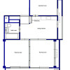 3DK Apartment to Rent in Itabashi-ku Floorplan