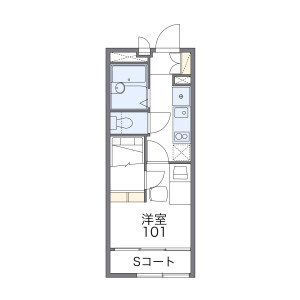 1K Mansion in Honcho - Funabashi-shi Floorplan
