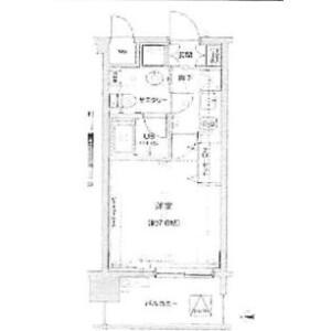 新宿區新宿-1K公寓大廈 房間格局