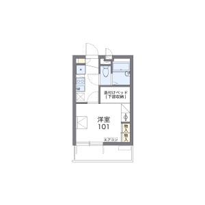 1K Mansion in Higashinaganuma - Inagi-shi Floorplan