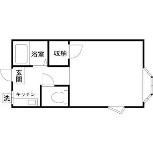 1K Apartment in Kyonancho - Musashino-shi Floorplan