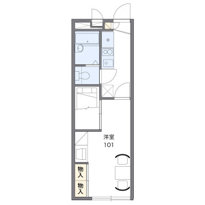 1K Apartment in Kawarada - Onojo-shi Floorplan