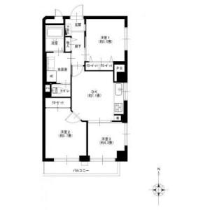 3DK {building type} in Tsunashimanishi - Yokohama-shi Kohoku-ku Floorplan