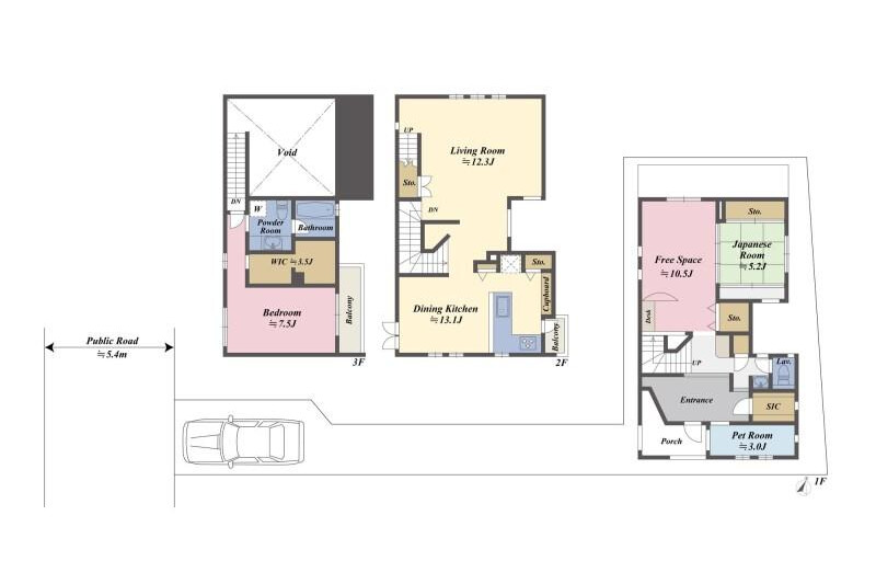 2LDK House to Buy in Meguro-ku Floorplan