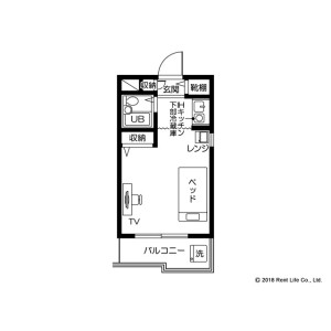 1K Mansion in Hiyoshi - Yokohama-shi Kohoku-ku Floorplan