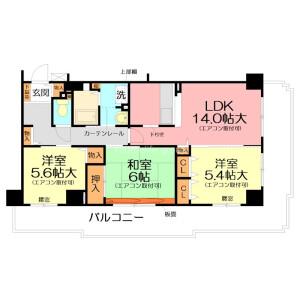 横濱市旭區さちが丘-3LDK公寓大廈 房間格局