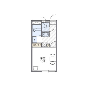 1K Apartment in Hosoda - Katsushika-ku Floorplan