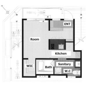 1R Apartment in Nishimizue(4-chome1-2-ban.10-27-ban.5-chome) - Edogawa-ku Floorplan