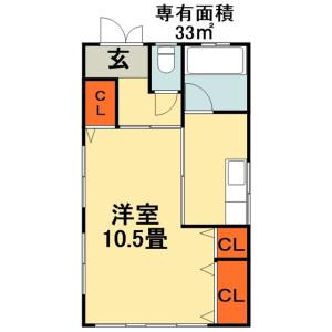 1K House in Chibaderacho - Chiba-shi Chuo-ku Floorplan