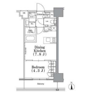 1DK Mansion in Iidabashi - Chiyoda-ku Floorplan