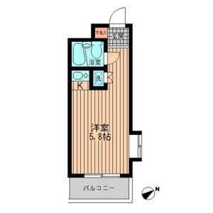 1R Mansion in Miyamae - Suginami-ku Floorplan