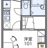 1K Apartment to Rent in Setagaya-ku Layout Drawing