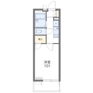 1K Mansion in Minamitorihatamachi - Kitakyushu-shi Tobata-ku Floorplan