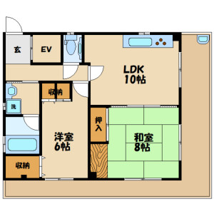 2LDK Mansion in Kyodo - Setagaya-ku Floorplan