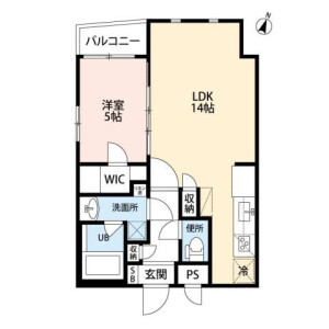1LDK Mansion in Hommachi - Shibuya-ku Floorplan