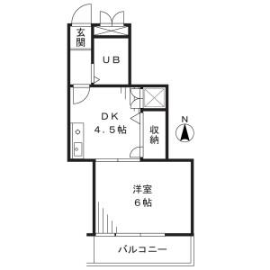 1DK Mansion in Hatsuyama - Kawasaki-shi Miyamae-ku Floorplan