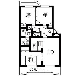 3LDK Mansion in Hirakocho nishi - Owariasahi-shi Floorplan