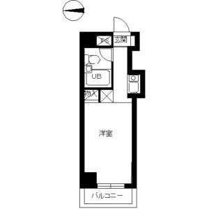 1R Mansion in Nishikawaguchi - Kawaguchi-shi Floorplan