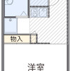 1K Apartment to Rent in Musashimurayama-shi Floorplan