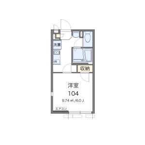 1K Apartment in Senju okawacho - Adachi-ku Floorplan