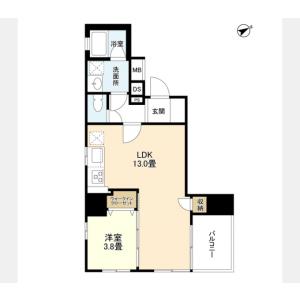 1LDK Mansion in Komagata - Taito-ku Floorplan
