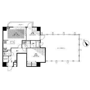 2LDK Apartment in Azabujuban - Minato-ku Floorplan