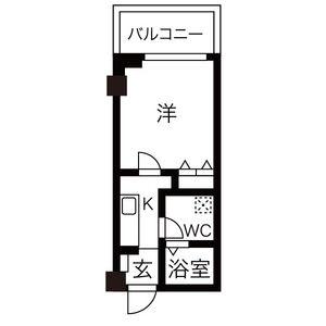 1K Mansion in Shinimazato - Osaka-shi Ikuno-ku Floorplan