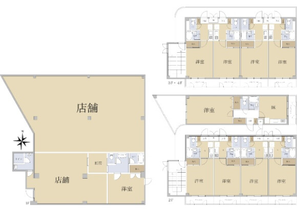 Whole Building Apartment to Buy in Kyotanabe-shi Floorplan