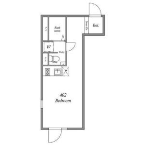 世田谷區代田-1R公寓大廈 房間格局