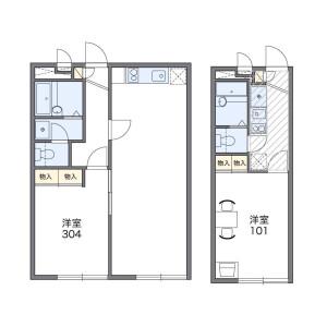 1K Mansion in Takenotsuka - Adachi-ku Floorplan
