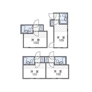 1K Apartment in Negishi - Taito-ku Floorplan