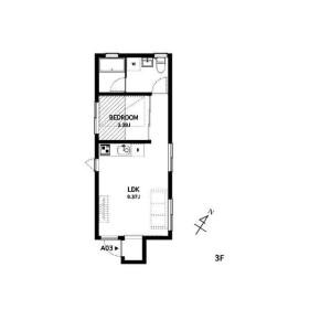 1LDK Apartment in Honkomagome - Bunkyo-ku Floorplan
