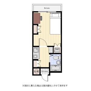 墨田区 太平 1K マンション 間取り