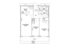 2LDK Apartment in Konan - Minato-ku