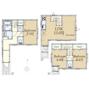 3LDK {building type} in Ikegami - Ota-ku Floorplan