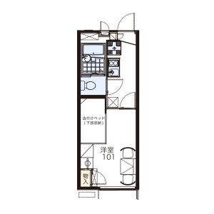 1K Apartment in Uzumasa hachiokacho - Kyoto-shi Ukyo-ku Floorplan