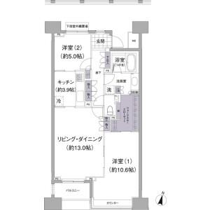品川区上大崎-2LDK公寓大厦 楼层布局