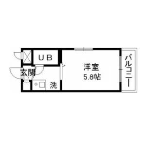 1R Mansion in Numabukuro - Nakano-ku Floorplan
