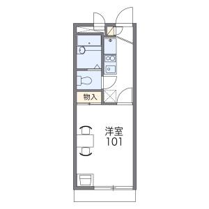1K Apartment in Minamitsukaguchicho - Amagasaki-shi Floorplan